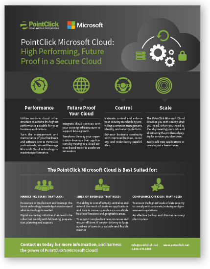 Microsoft Cloud Solution Sheet